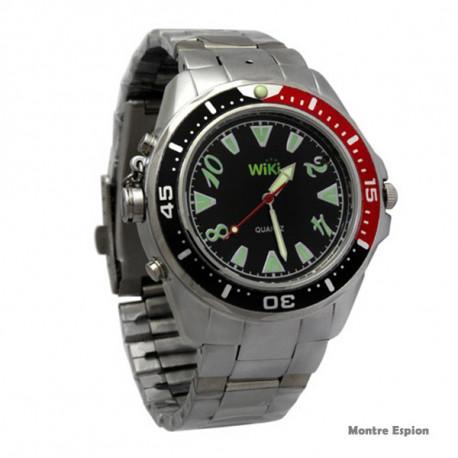Vous bénéficierez d'une montre espionne hi-tech élégante, discrète et très efficace !