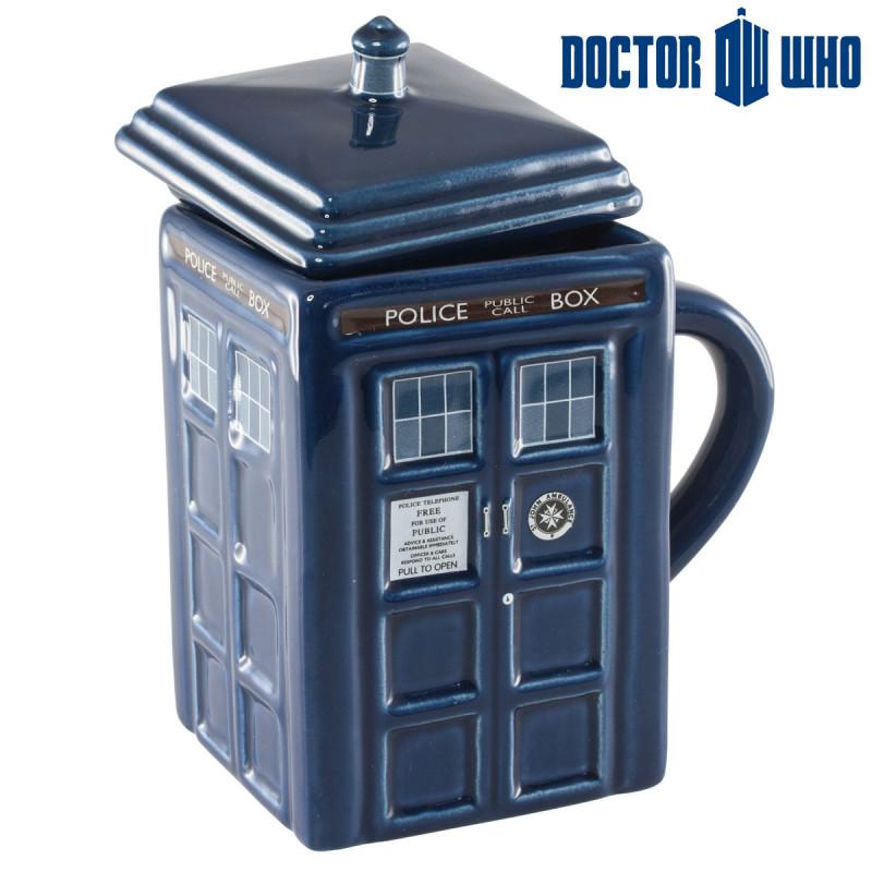 le mug tardis 3d dr who,un mug geek pour les fans de la série britannique
