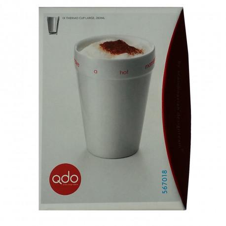 la tasse à cappuccino qdo possède une double paroi isolante en porcelaine : un mug so design