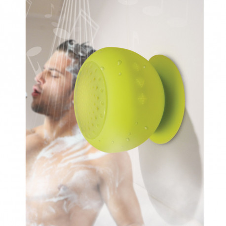Voilà un petit haut-parleur en silicone pour un maximum de son sous la douche ! Vous pourrez même passer vos appels en vous lavant avec ce speaker de douche bluetooth en silicone...