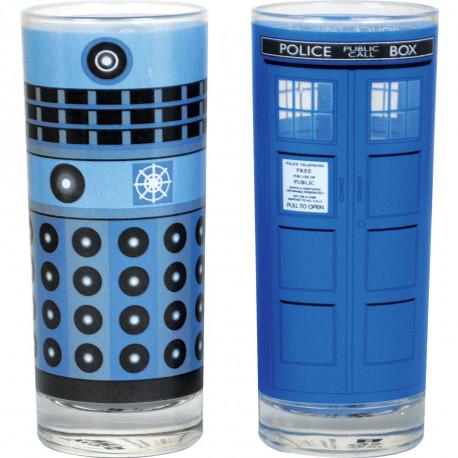 le set de deux verres dr who - dalek et tardis,un cadeau pour les inconditionnels de la série britannique so geek