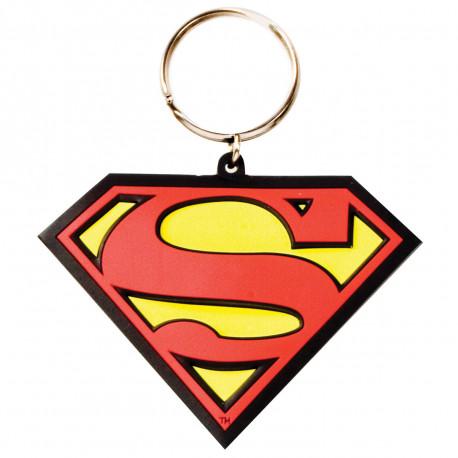 le porte-clés superman logo en pvc souple ravira les inconditionnels du super-héros