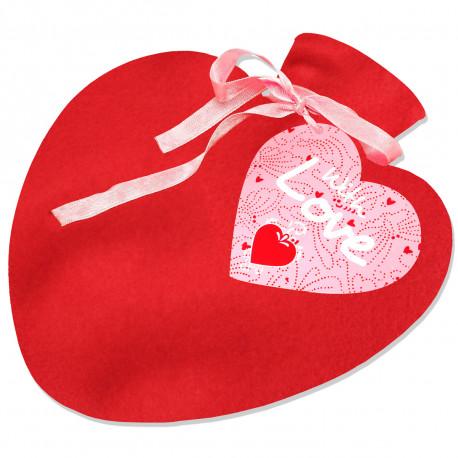 la bouillotte chauffe-cœur,un cadeau romantique pour la saint-valentin à offrir à son amoureux/amoureuse