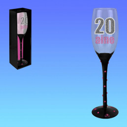 Flûte à Champagne Anniversaire en Verre