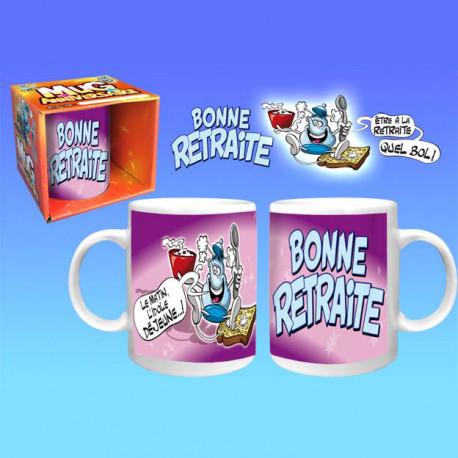 Offrez un mug qui sorte de l'habituel... Ce mug en céramique coloré, spécial départ à la retraite, sera le cadeau idéal pour son destinataire, à coup sûr ! Voici un mug très sympa à offrir...