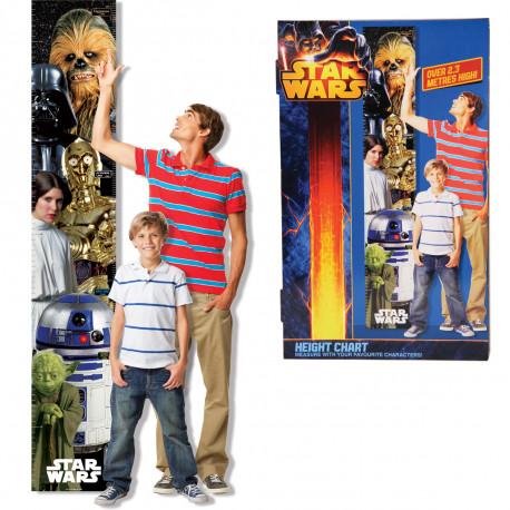 Mesurez-vous aux personnages intergalactiques avec cette maxi toise murale Star Wars ! Voici un cadeau insolite et fonctionnel pour tous les fans de la saga Star Wars… qu'ils soient de petits padawans ou de grands Jedi !
