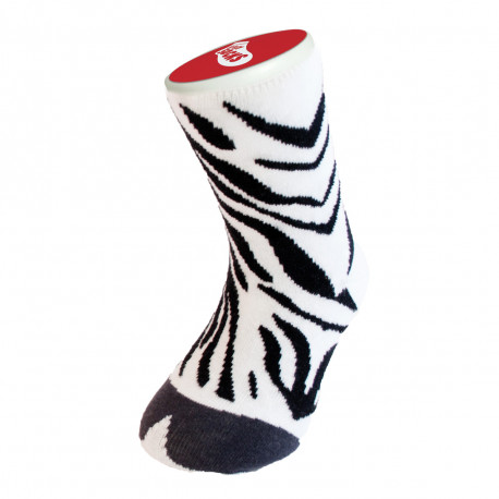 Offrez à votre progéniture une paire de chaussettes fantaisie à l'imprimé rigolo d'un zèbre... Ces chaussettes insolites sont une super idée cadeau pour les mini fans de la zèbre-attitude qui cultiveront leur différence !