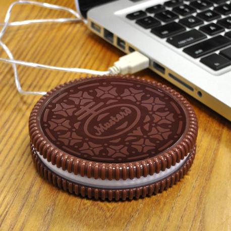 le chauffe-tasse biscuit usb, un gadget usb pratique pour réchauffer son café au bureau