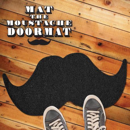 Paillasson en forme de grosse moustache noire