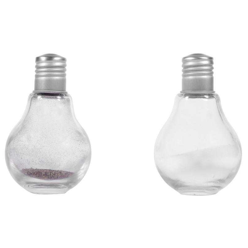 sali re et poivri re ampoules achat cadeau cuisine d co sur rapid. Black Bedroom Furniture Sets. Home Design Ideas