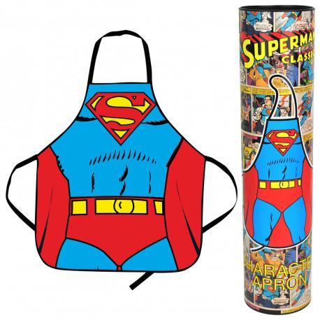 Ce tablier Superman ultra geek vous permet de préparer de bons petits plats, tout en assumant votre côté très viril ! Il est une idée cadeau originale et insolite à offrir à votre chéri… pour qu'il passe un peu plus de temps derrière les fourneaux !