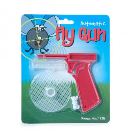 Avec le printemps arrive la période des mouches... Combattez ces petits insectes désagréables de façon humoristique avec ce redoutable pistolet tue-mouches... Un engin volant (identifié) ultra efficace !