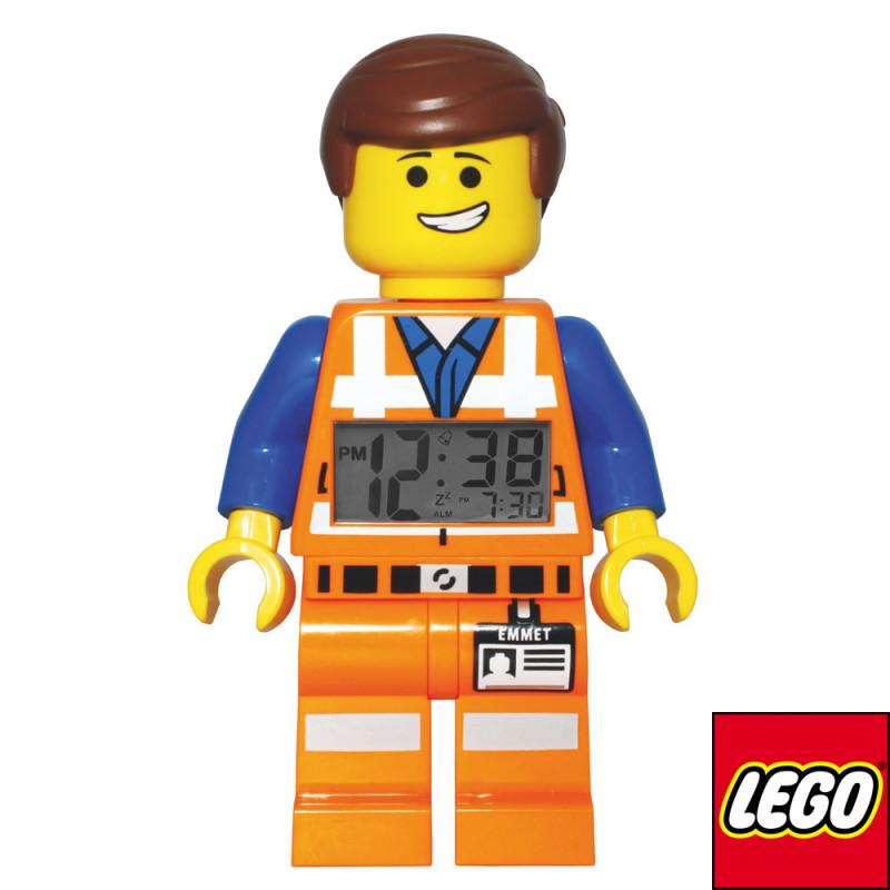 le réveil lego emmet tiré du film d'animation la grande aventure lego plaira à tous les enfants geeks