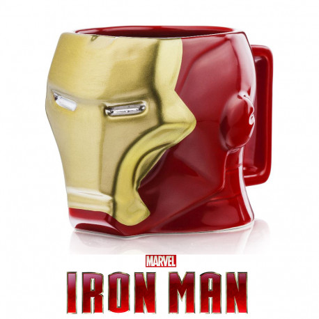 Ce mug géant en trois dimensions est à l'effigie du célèbre super-héros de l'univers Marvel, Iron Man… Les Avengers se retrouvent au summum des petits déjeuners geeks, sous la houlette de l'Homme de Fer ! Un cadeau ultra geek !