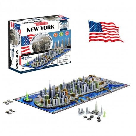 Profitez d'une visite guidée de la Grande Pomme et voyagez dans le temps avec ce puzzle de New-York de 840 pièces…