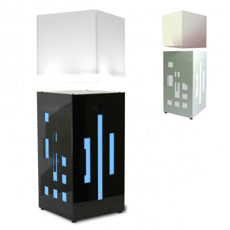 Vous appréciez la modernité alliée à la prouesse technologique ? Vous allez avoir le coup de cœur pour cette lampe anti-gravité Mégapolite Cube au look d'un gratte-ciel, en version noir ou blanc laqué ! Ambiance stylée et lumières multicolores sont au rendez-vous…