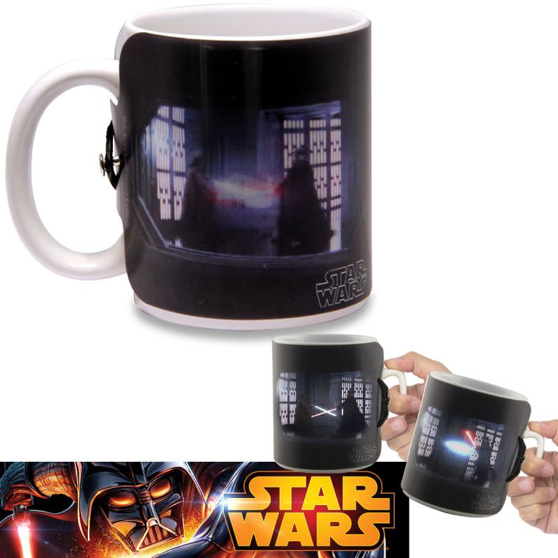 offrez un cadeau star wars original à un fan de la saga de george lucas : le mug animé star wars duel