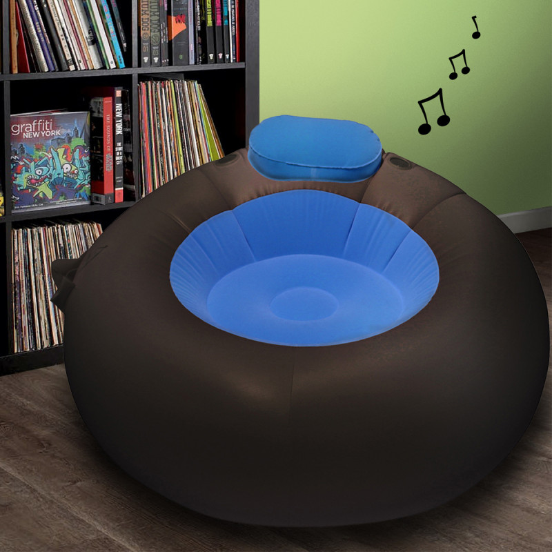 pouf gonflable musical achat cadeau musical design sur rapid. Black Bedroom Furniture Sets. Home Design Ideas