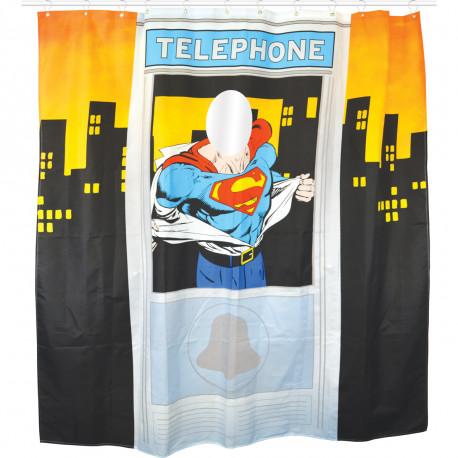 Vous êtes fan ultime du super-héros Superman ? Voici LE rideau de douche ultra geek que vous vous devez de posséder ! A l'effigie du mythique héros DC Comics, il vous promet une ambiance so geek dans votre salle de bains !
