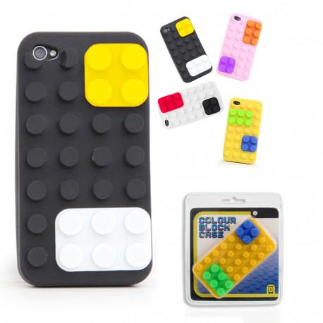 Illuminez votre iPhone 4/4S avec cette coque de protection en silicone inspirée des blocs Lego ! Cette coque insolite est composée de plusieurs blocs emboîtables pour un maximum d'effets !