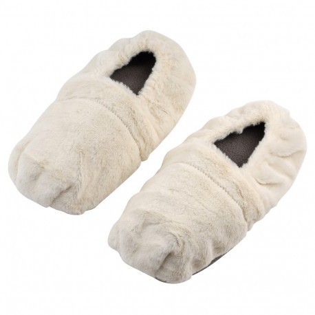 Paire de chaussons thermo-relaxants doux