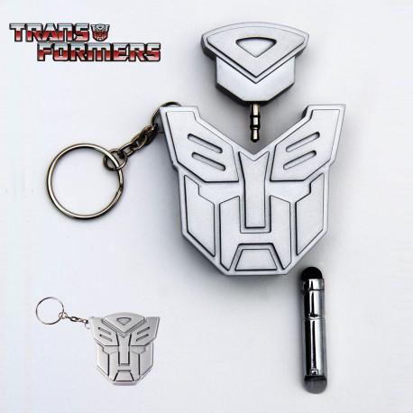 Porte-Clés Transformers Stylet et Double Prise Jack