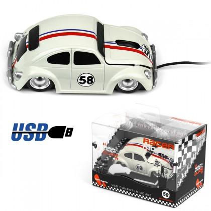 Voilà un cadeau parfait pour les amateurs de voitures de course rétro et d' accessoires informatiques originaux… Cette souris usb en forme de voiture de course des années 70 va égayer votre bureau !