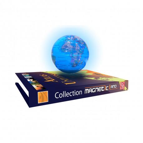 Faites léviter ce magnifique globe terrestre géopolitique dans les airs pour créer un spectacle fascinant… La base à lévitation de ce cadeau design est une imitation d'un Atlas Universel qui illumine la planète pour un effet magnifique !