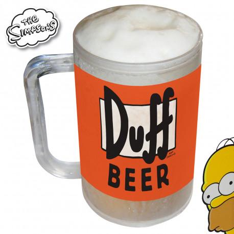 Gardez votre bière bien au frais avec cette chope réfrigérée Simpsons ! Vous allez pouvoir savourer votre Duff Beer, seul ou entre amis, mais toujours très fraîche ! Un cadeau Simpsons très utile…