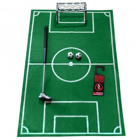 Occupez-vous de manière humoristique et fun pendant vos pauses-pipi avec ce jeu de football pour toilettes et ses accessoires… Une idée de cadeau indispensable à offrir à tous les accros au football !