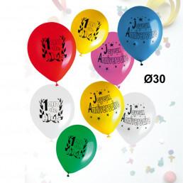 Sachet de 8 Ballons Anniversaire