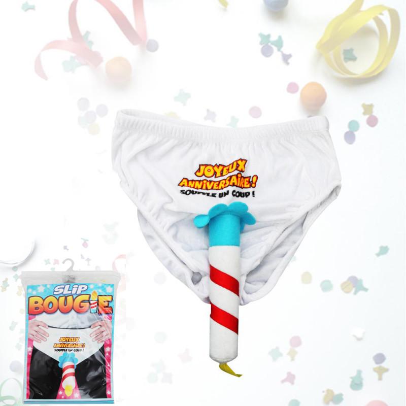 Slip Bougie Joyeux Anniversaire Achat Cadeau Anniversaire Fun Sur