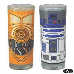 Set de Deux Verres Star Wars - R2D2 et C3PO