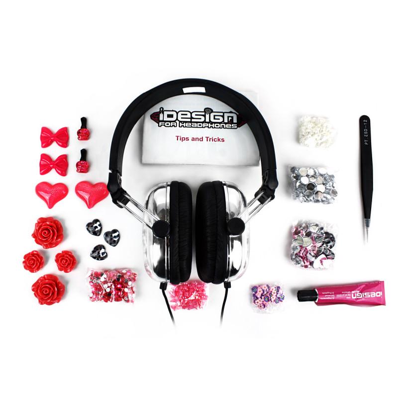 casque idesign fleurs personnaliser achat cadeau girly high tech sur rapid. Black Bedroom Furniture Sets. Home Design Ideas