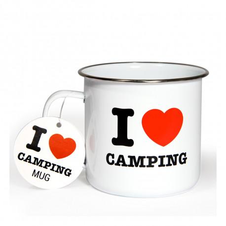 Vous êtes un inconditionnel des vacances au camping ? Vous craquerez sans concession pour cette tasse en émail robuste et indispensable à tout campeur qui se respecte… I love camping : tel est son message des plus clairs !