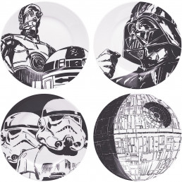 Assiettes Star Wars en Céramique - Lot de 4