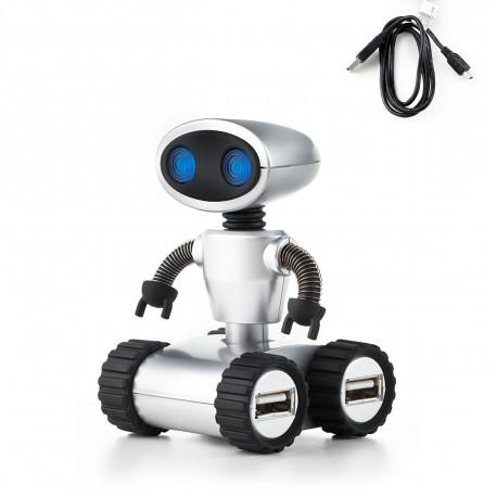 Offrez un hub usb 4 ports original en forme de robot trop chou pour ajouter une touche insolite à votre bureau ! Bras mobiles, yeux lumineux, cet accessoire high-tech plaira à tous les geeks fans de Wall-E !