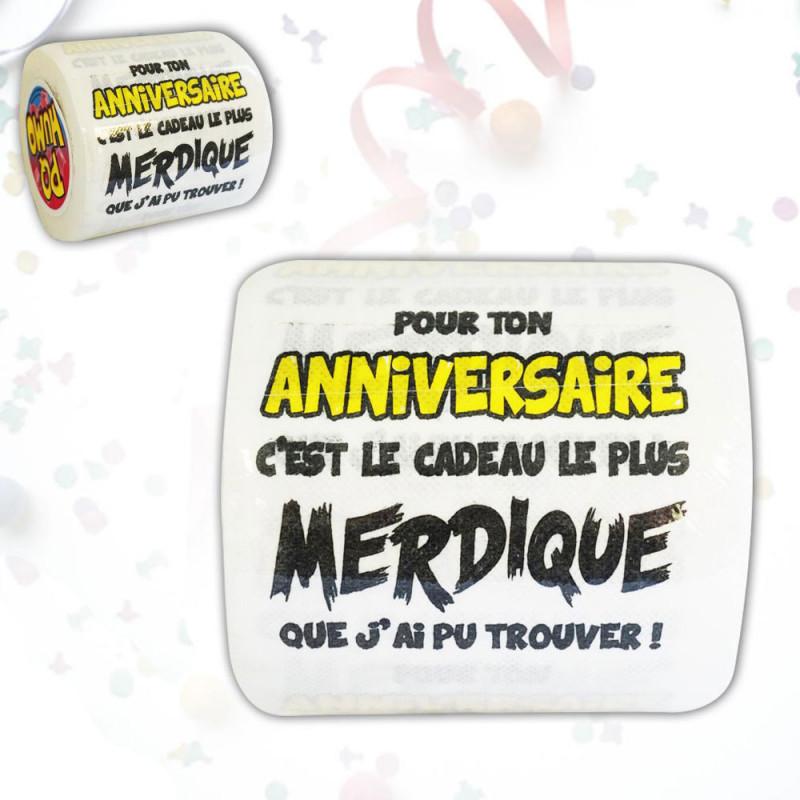 Papier Toilette Pour Ton Anniversaire  Cadeau Merdique : Achat