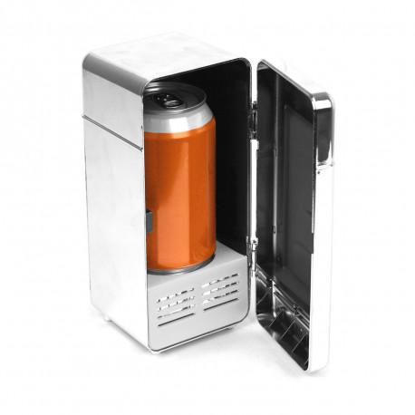 Un mini frigo usb effet chromé