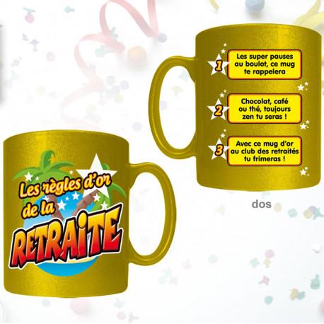 Mug Règles d'Or de la Retraite