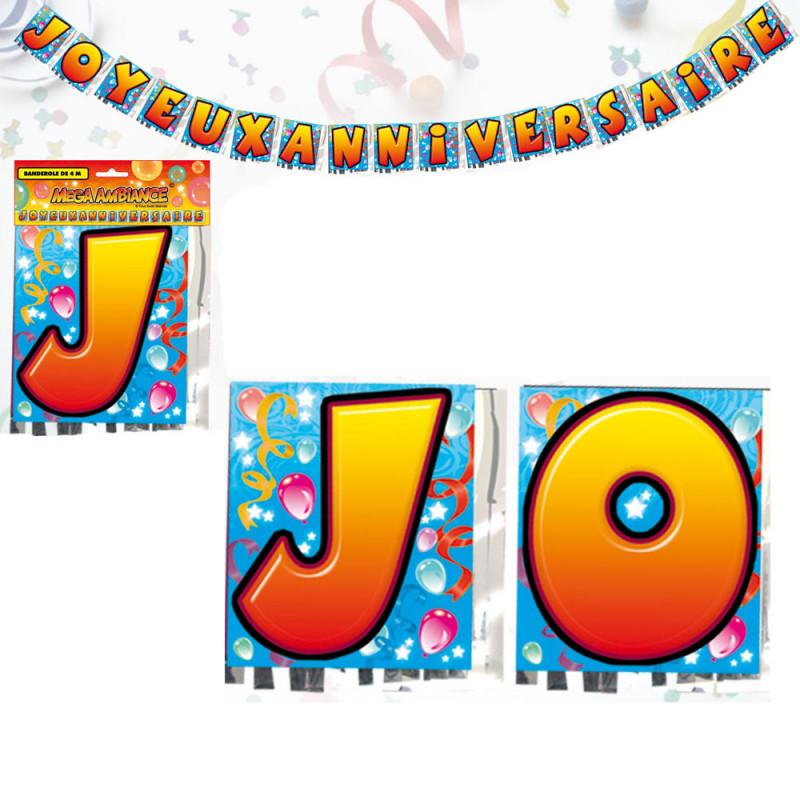 Banderole Lettres Joyeux Anniversaire 4 Metres Achat Cadeau Deco