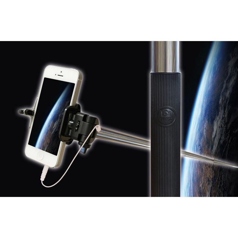 maxi canne selfie t lescopique pour t l phone portable sur rapid cadeau. Black Bedroom Furniture Sets. Home Design Ideas