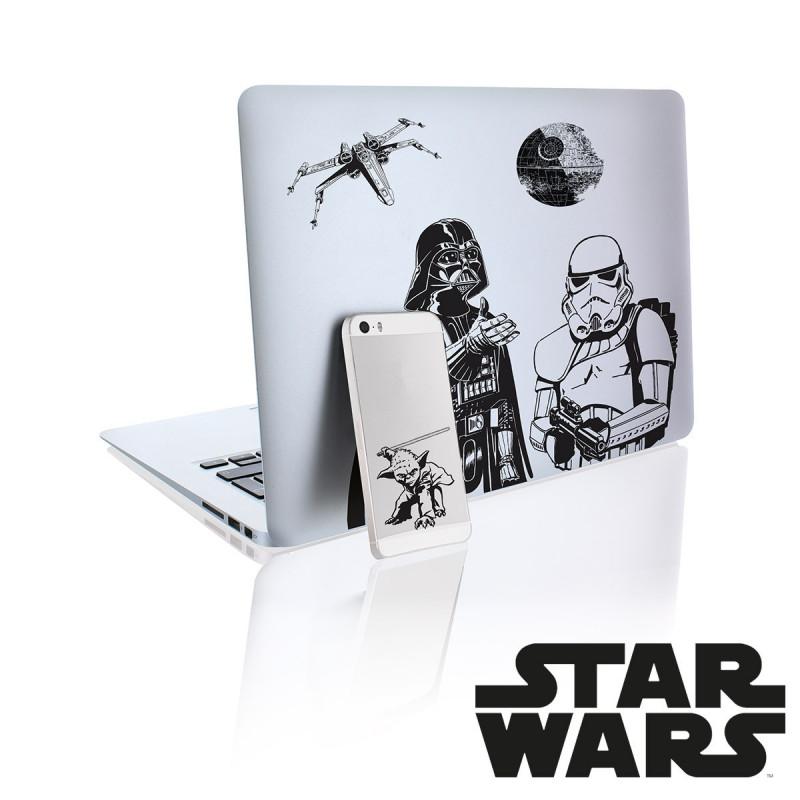 d co star wars stickers pour ordinateur portable sur. Black Bedroom Furniture Sets. Home Design Ideas