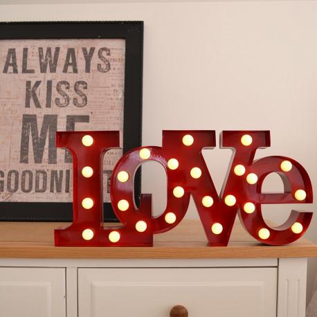 lampe love luminaire design pour d co romantique sur rapid cadeau. Black Bedroom Furniture Sets. Home Design Ideas