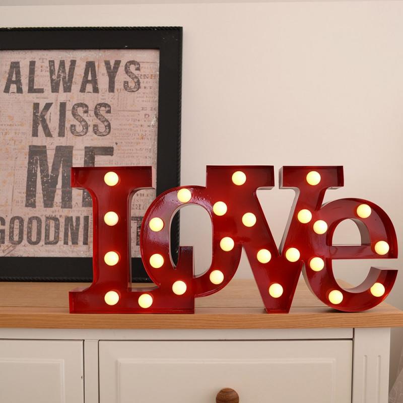 lampe love luminaire design pour d co romantique sur. Black Bedroom Furniture Sets. Home Design Ideas