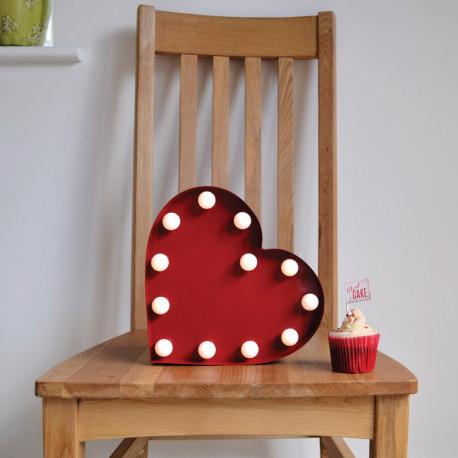 Objet déco maison cœur rouge design lumineux sur rapid cadeau