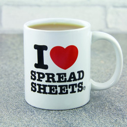 Mug I Love Spreadsheets