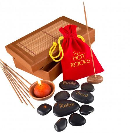 Coffret de massage aux pierres chaudes pour se détendre