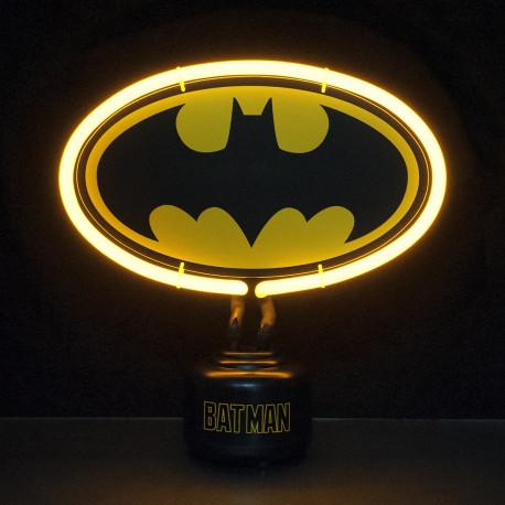 lampe poser avec n on en forme de logo batman sur rapid. Black Bedroom Furniture Sets. Home Design Ideas