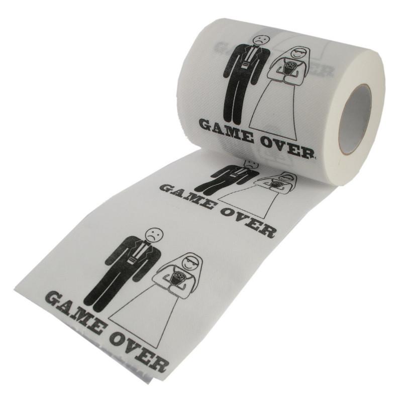 cadeau couple papier toilette mariage game over sur rapid cadeau. Black Bedroom Furniture Sets. Home Design Ideas
